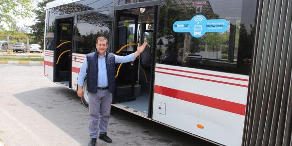 10 hatta 60 otobüste gençlere ücretsiz internet