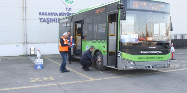 146 otobüs şoförüne Mesleki Yeterlilik Belgesi