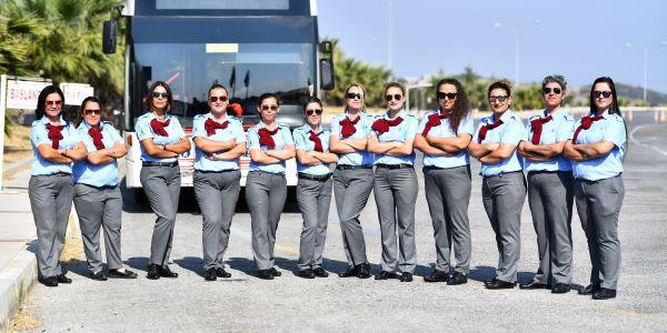 17 kadın otobüs şoförü yola çıktı