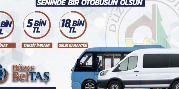 18 bin TL aylık garantili seninde bir otobüsün olsun