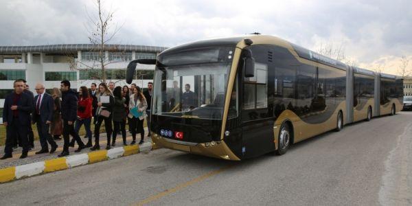 24 metrelik elektrikli otobüs test ediliyor