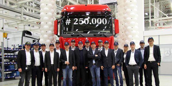 250.000'inci kamyon banttan indi