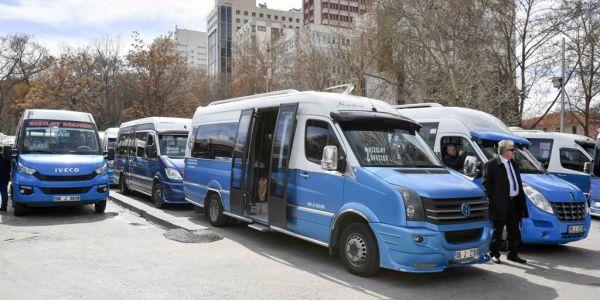 2 bin 850 özel toplu taşıma aracına akaryakıt desteği