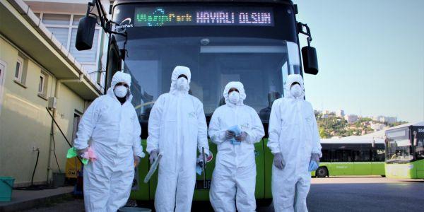 336 otobüs ve 18 tramvayda virüs ve mikroplara izin yok
