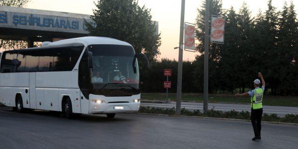 351 otobüs trafikten men edildi