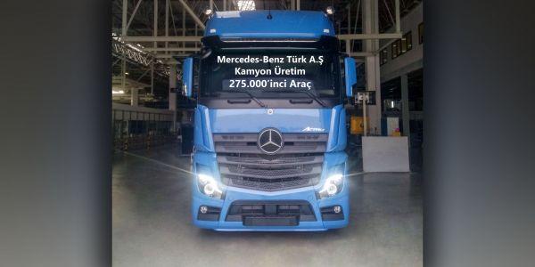 Aksaray Kamyon Fabrikası'nda 275.000'inci kamyon banttan indi