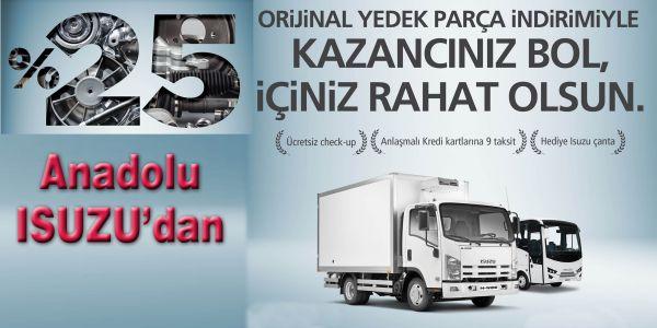 Anadolu Isuzu'dan Yedek Parça Kampanyası