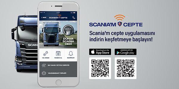 Artık her bilgi Scania'm cepte