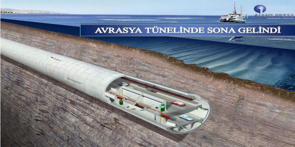 Avrasya Tüneli, denizin 106 metre altında