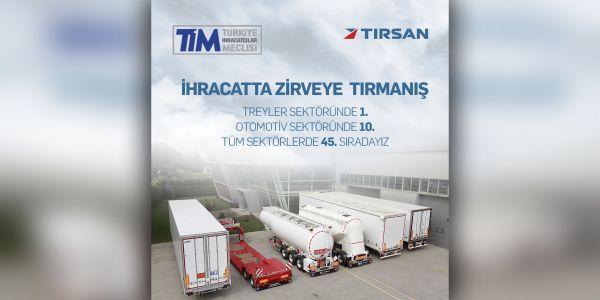 Avrupa'nın en hızlı büyüyen treyler üreticisi TIRSAN oldu