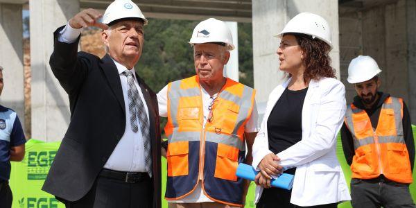 Bodrum Otogarı inşaatı tüm hızla sürüyor