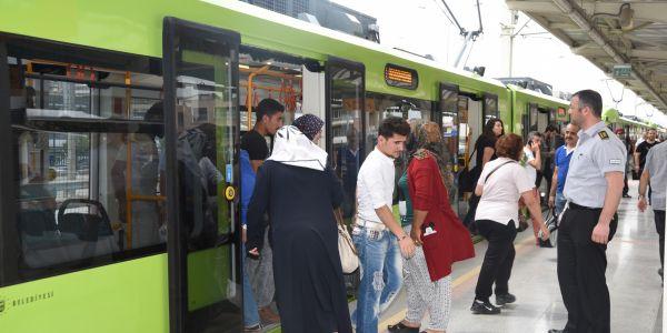 Bursaray'da yolcu rekoru