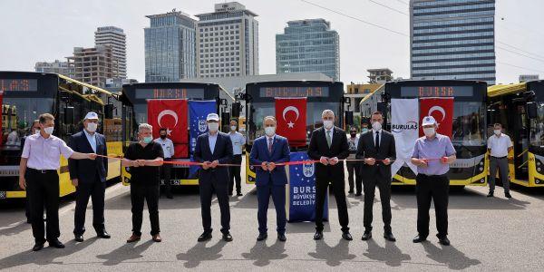 BURULAŞ filosuna 20 yeni otobüs ekledi