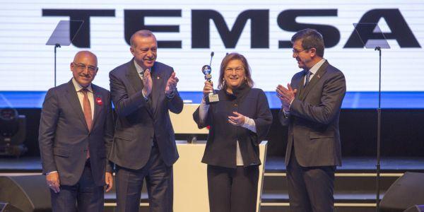 Cumhurbaşkanı Erdoğan'ın Temsa Elektrikli Otobüsle yolculuğu