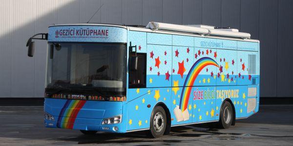 Doruk otobüs gezici kütüphaneleri bilgi taşıyor