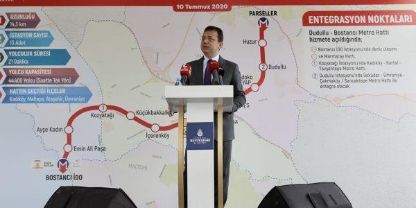 Dudullu-Bostancı hattı 2022'de hizmete girecek