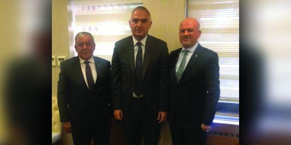 EGETURDER ve İZTAD'tan Turizm Bakanına ziyaret
