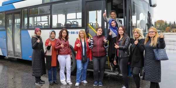 EGO 10 kadın şoför alımı için sınav yaptı