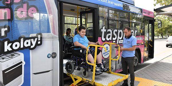 EGO otobüslerinin tamamı engelli kullanımına uygun oldu