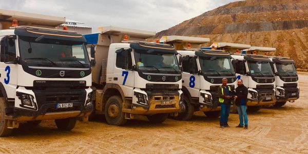 Gökçenay İnşaat, Volvo kamyonları tercih etti