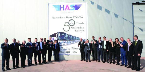Has Turizm'den 50. yıla özel 50 otobüs