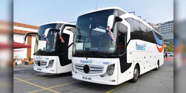 HAVAİST  5 noktadan 20 otobüsle seferlere başlıyor