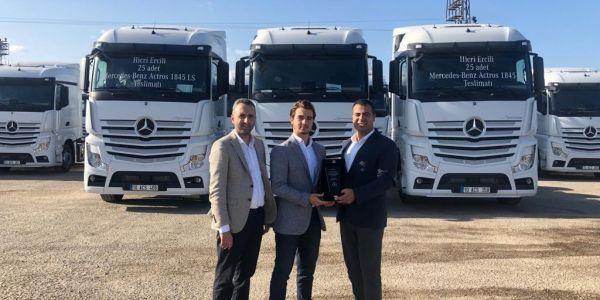 Hicri Ercili şirketi 25 Mercedes-Benz Actros aldı