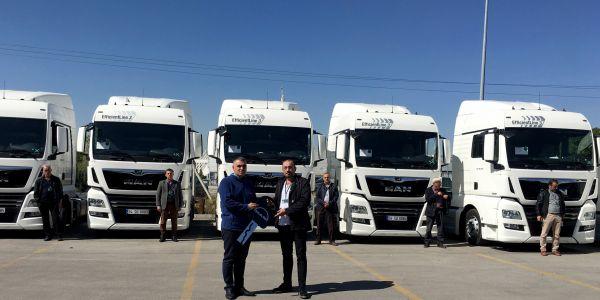 İstanbul Lojistik 10 araçlık yeni  yatırımında da yine MAN'ı tercih etti