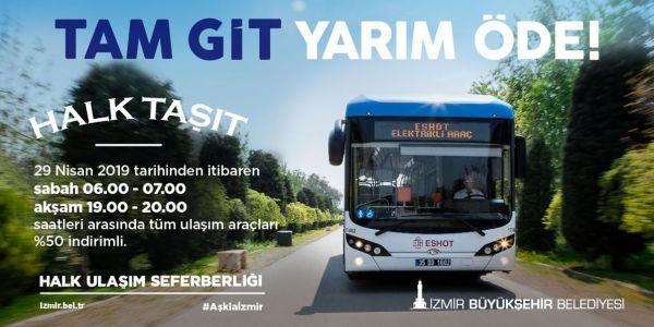 """İzmir'de """"Halk Taşıt"""" uygulaması başlıyor"""