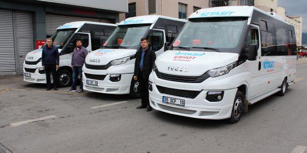 İZTAŞIT filosuna 3 iveco minibüs kattı