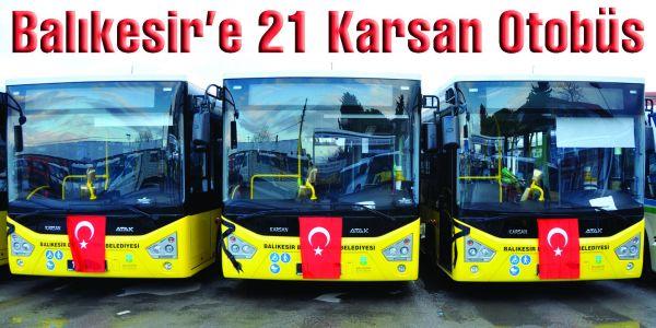Karsan'dan Balıkesir'e 21 Otobüs Teslimatı