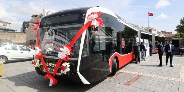 Kayseri'ye elektrikli otobüs