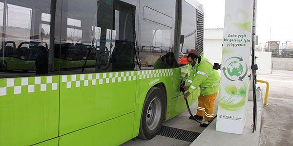 Kocaeli'nde 303 CNG'li otobüs ile çevre dostu ulaşım