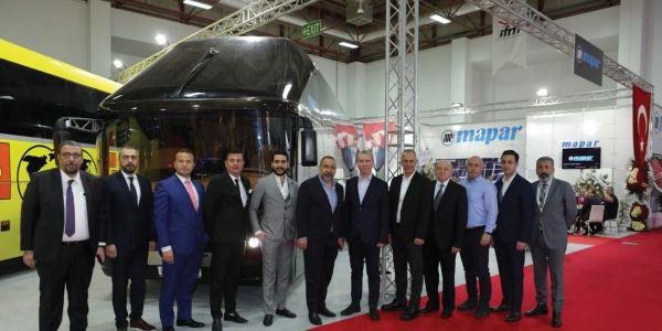 MAPAR özel tasarım otobüslerini sergiledi