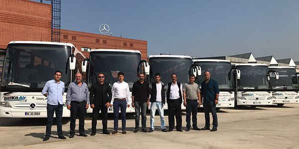Mercedes Benz Türk'ten 7 Tourismo teslimatı