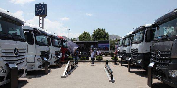 Mercedes, yeni kamyonlarıyla Türkiye'yi dolaştı