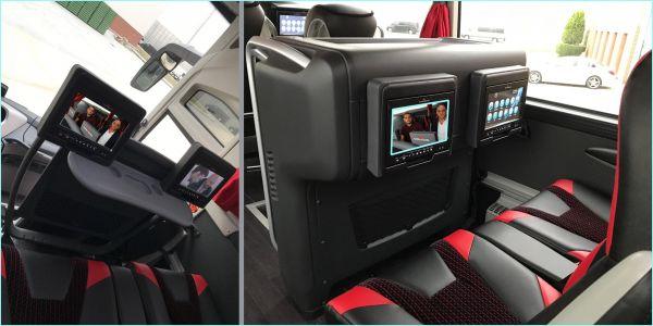 Milli Takım Otobüsünün ekranları Diamond
