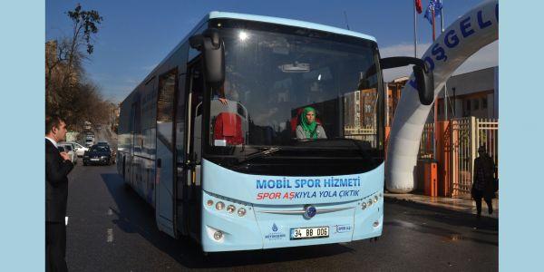 Mobil Spor Otobüsü hizmete başladı
