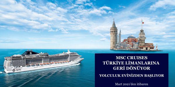 MSC Cruises Mart 2021'de dönüş yapıyor
