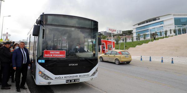 Muğla'da 11 ilçede sağlık çalışanlarına ücretsiz servis