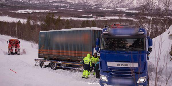 Norveç yolunda bir Türk tır şoförü