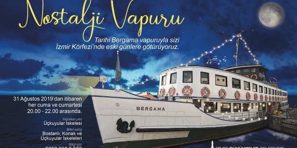 Nostalji Vapuru İzmir Körfezi'nde sefere çıkıyor