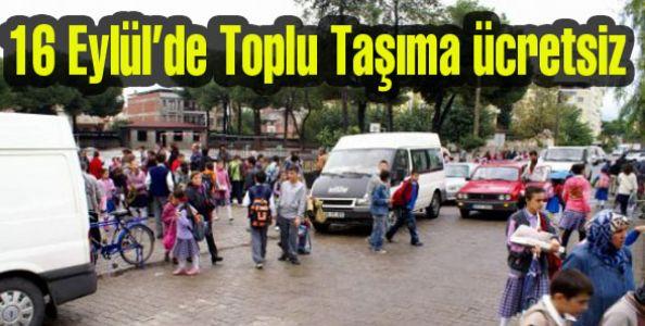 Okulların açılacağı ilk gün toplu taşıma ücretsiz