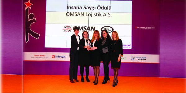 OMSAN, İnsana Saygı Ödülü aldı