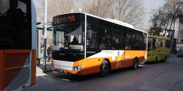 Özel halk otobüsçüsüne destek