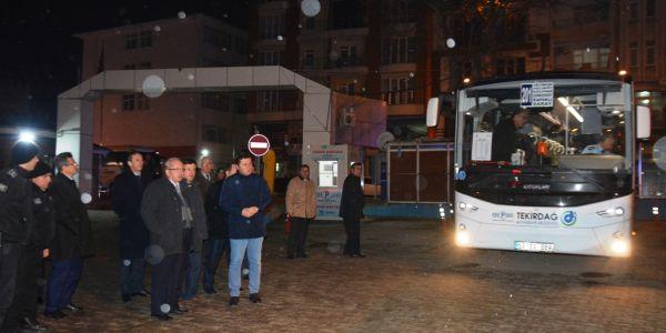 Saray-Kapaklı-Çerkezköy-Çorlu seferleri başladı