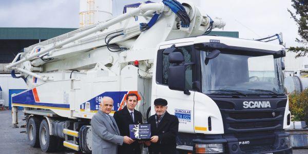 Scania'dan Türkiye'nin en uzun beton pompası