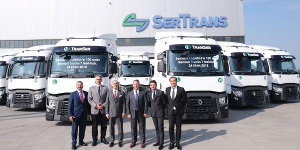 Sertrans 100 Renault çekici aldı