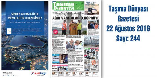 Taşıma Dünyası Gazetesi_244 PDF 22 Ağustos 2016