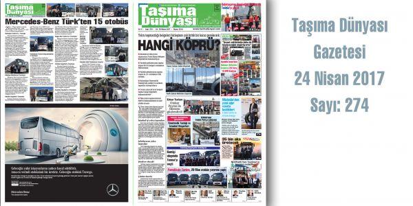Taşıma Dünyası Gazetesi_274 PDF 24 Nisan 2017